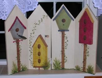 Wood Birdhouse Shutters