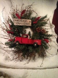 Red Truck Wreath