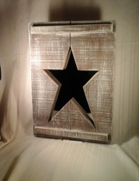 Wooden Country Star Mirror